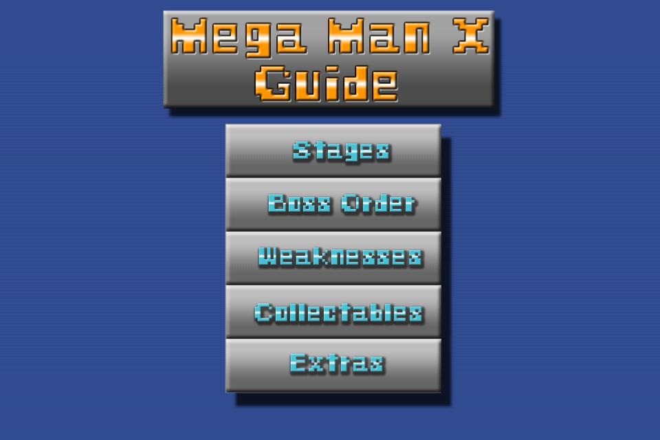 Screenshot Mega Man X Guide