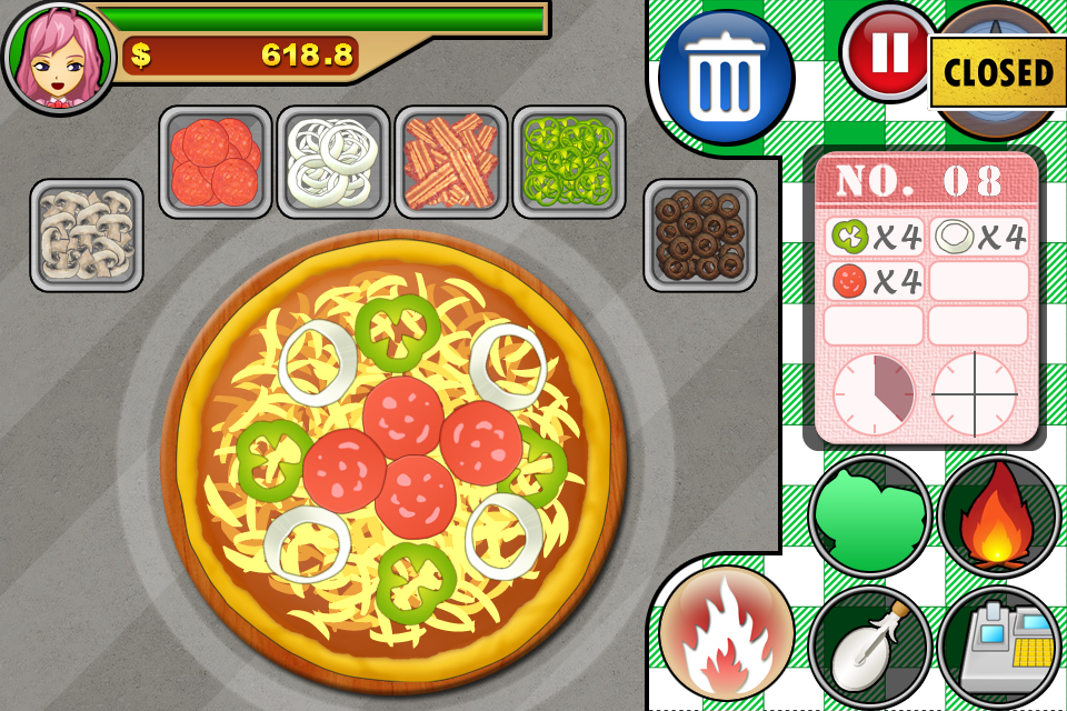Screenshot Pepperroni's PIZZA Shop